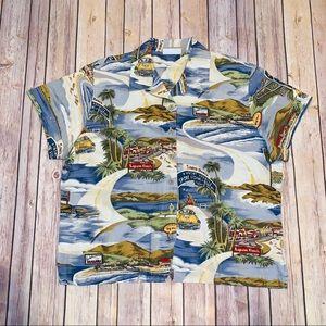 Liz Claiborne Liz wear Womens Aloha Hawaiian Sz L
